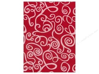 "Kunin Felt 9""x 12"" Fancifelt White Swirl Red"