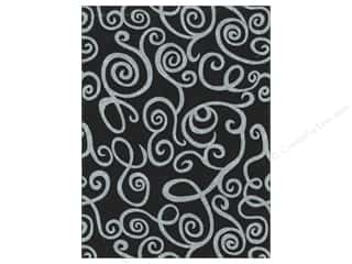 Kunin Felt 9 x 12 in. Fancifelt White Swirl Black (24 piece)
