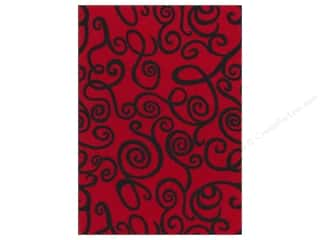Fancifelt: Kunin Felt 9x12&quot; Fancifelt Midnight Swirl Red (24 piece)