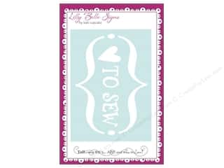 Clearance Kati Cupcake Lilly Belle Signs Decal: Kati Cupcake LBS Decal Love To Sew Car White