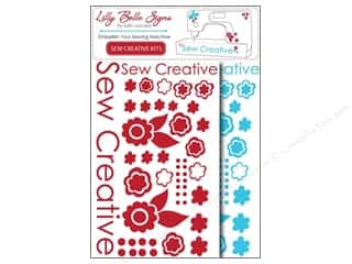 Kati Cupcake Pattern Co Rub-On Transfers: Kati Cupcake Lilly Belle Signs Decal Sewing Pack Turquoise & Red