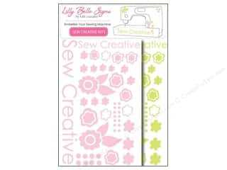 Kati Cupcake Pattern Co Rub-On Transfers: Kati Cupcake Lilly Belle Signs Decal Sewing Pack Lime & Pink