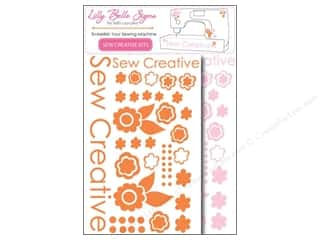 Kati Cupcake Pattern Co Rub-On Transfers: Kati Cupcake Lilly Belle Signs Decal Sewing Pack Pink & Orange