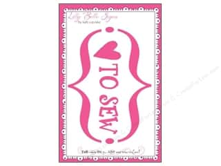 Kati Cupcake LBS Decal Love To Sew Car Pink