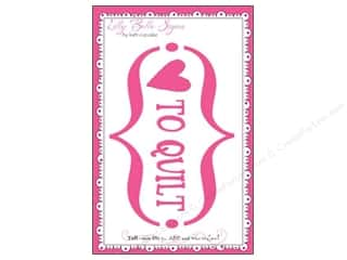 Kati Cupcake Pattern Co $8 - $10: Kati Cupcake Lilly Belle Signs Decal Love To Quilt Car Pink