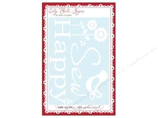 Happy Lines Gifts Sewing & Quilting: Kati Cupcake Lilly Belle Signs Decal Sew Happy Car White