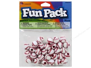 Cousin Bead Fun Pack Baseball Softball 12mm 30pc