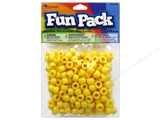 pony bead: Cousin Bead Fun Pack Pony Yellow 250pc