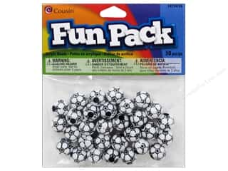 Kids Crafts Sports: Cousin Bead Fun Pack Soccer 12mm 30pc
