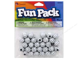 March Madness Sale Cousin Pony Bead: Cousin Bead Fun Pack Volleyball 12mm 30pc