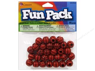 Party Supplies mm: Cousin Bead Fun Pack Basketball 12mm 30pc