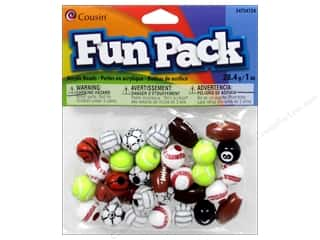 Plastics Sports: Cousin Bead Fun Pack Sports Assorted 1oz