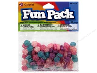Beads Flowers: Cousin Bead Fun Pack Flower Multi Glitter 80pc