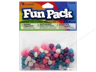 Cousin Bead Fun Pack Heart Multi Glitter 80pc