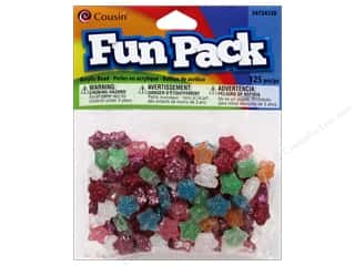 Party Supplies Toys: Cousin Bead Fun Pack Star Multi Glitter 125pc