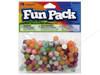 Cousin Bead Fun Pack Round Multi Glitter 125pc