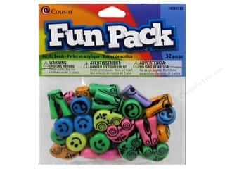 Cousin Bead Fun Pack Smile/Ying/Jean/Car Love 32pc