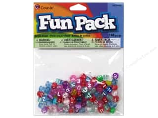 ABC & 123 Clear: Cousin Bead Fun Pack Alphabet Round Transparent Mix 140pc