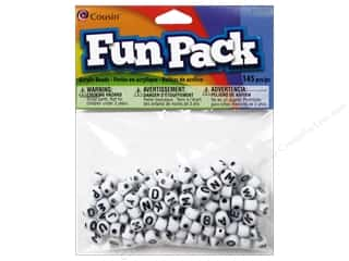 Cousin Corporation of America Novelty Items: Cousin Bead Fun Pack Alphabet Round Mixed 145pc
