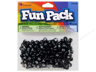 Cousin Bead Fun Pack Alpha Round Black Mix 185pc