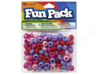 Cousin Bead Fun Pack Round Large Hole Multi 140pc