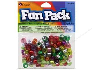 pony bead: Cousin Bead Fun Pack Pony Silver Lined Mix 1.1oz