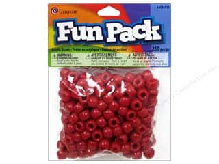 Cousin Bead Fun Pack Pony Red 250pc