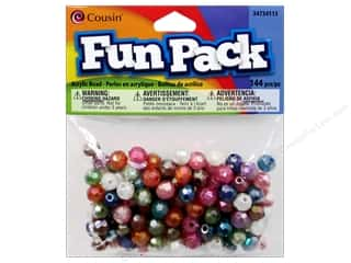 Cousin Bead Fun Pack Round Facet Multi Pstl 144pc