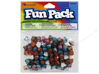 Cousin Bead Fun Pack Bicone Facet Multi Pstl 125pc