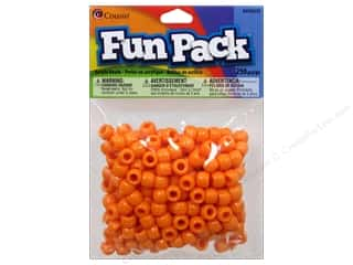 Party Supplies Orange: Cousin Bead Fun Pack Pony Orange 250pc