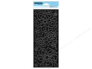 Elizabeth Craft Sticker Big Flowers Blk