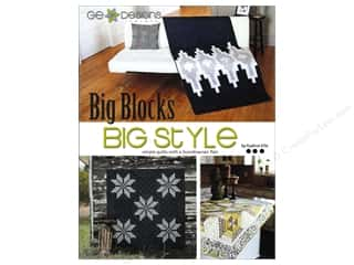 Annies Attic Fat Quarter / Jelly Roll / Charm / Cake Books: GE Designs Big Blocks Big Style Book