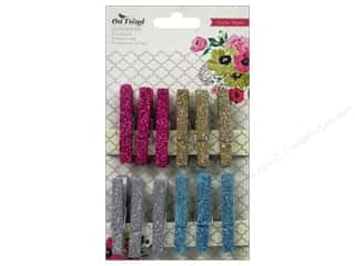 Crate Paper Embellish Clothespins On Trend Glitter