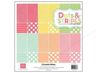 "Echo Park Collection Kit 12""x 12"" Dots & Stripes Neapolitan"