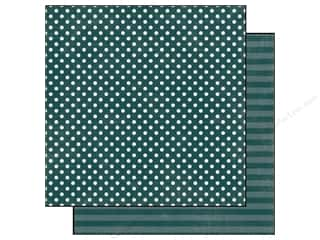 Echo Park Paper 12x12 Dots&Stripes Jewels Sm Emrld (25 piece)