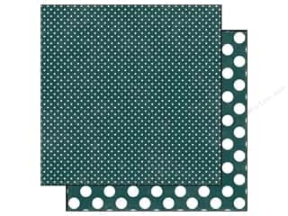 Clearance Blumenthal Favorite Findings: Echo Park 12 x 12 in. Paper Emerald Tiny Dot (25 piece)