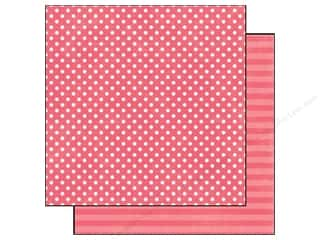 Echo Park Paper 12x12 Dots&amp;Stripes Neap Sm Cherry (25 piece)