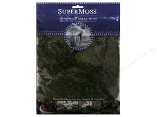 Rocks Flowers: SuperMoss Premium Preserved Sheet Fresh Green 2oz
