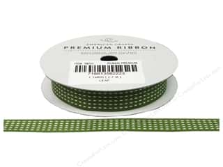 Polyester Ribbon / Synthetic Blend Ribbon: American Crafts Grosgrain Ribbon Stitch 1/2 in. Leaf
