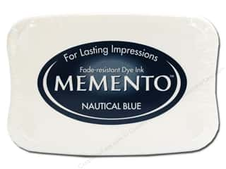 Rubber Stamping Blue: Tsukineko Memento Dye Ink Stamp Pad Nautical Blue