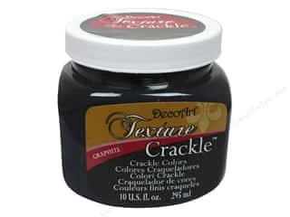 DecoArt Elegant Finish Paint 10oz: DecoArt Texture Crackle Graphite 10oz