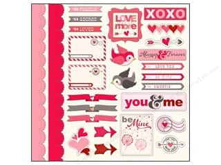 Love & Romance Chipboard: Imaginisce Stickers Love You More Love Birds