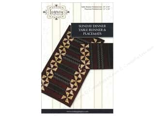 Legacy Patterns: Legacy Sunday Dinner Table Runner & Placemats Pattern