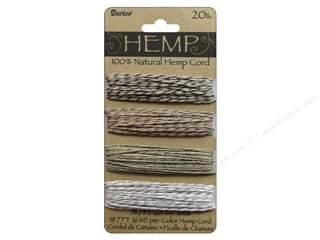 Darice Cord Hemp Set 20lb Metallic Twist 4x 20'