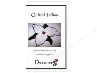 Quilted Trillium, The Fat Quarter / Jelly Roll / Charm / Cake Patterns: Deezines Quilted Trillium Pattern
