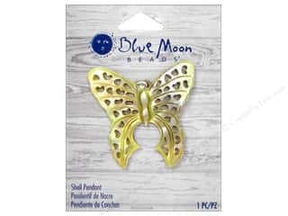 Blue Moon Shell Pendant Natural Cut Out Shell Butterfly