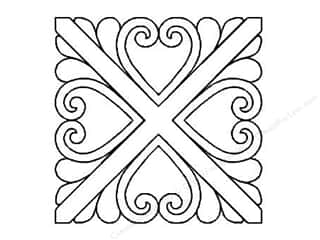 Quilt Stencil  -border: Quilting Creations Stencil Heartfelt 7 in.