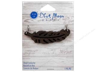 blue moon beads: Blue Moon Beads Wood Connector Leaf