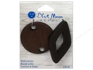 Drop Findings / Hoop Findings: Blue Moon Beads Wood Connectors 2 pc. Round & Diamond