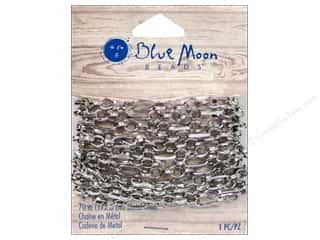 "Blue Moon Chain W&S 70"" Metal Silver"